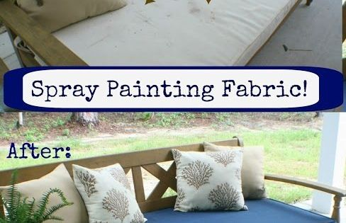 by spray painting directly onto the fabric 33 ways spray paint can. Black Bedroom Furniture Sets. Home Design Ideas