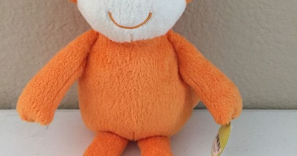 Carters Rare Orange Monkey 13 Quot Plush Stuffed Animal New