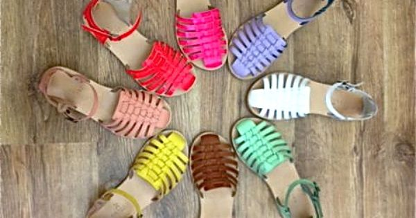 colourful leather sandals by Grafea ...coming soon