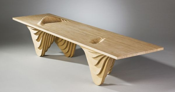 Stacked Plywood Table CNC Furniture Pinterest Table And Tables