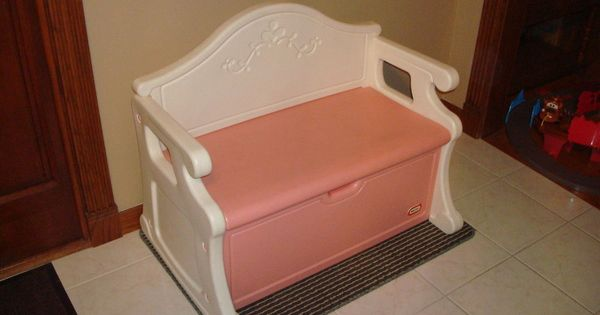 Rare Vintage Little Tikes Pink Princess Childs Victorian Pink Toy Box Bench L K Pink