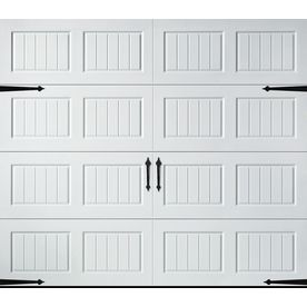 Shop Pella Carriage House Series 108 In X 84 In White Single Garage Door At Lowes Com White Garage Doors Single Garage Door Garage Door Windows
