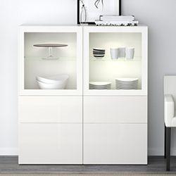 Ikea Besta Vitrine Vitrine Weiss Wohnzimmerschranke Wohnwand Weiss