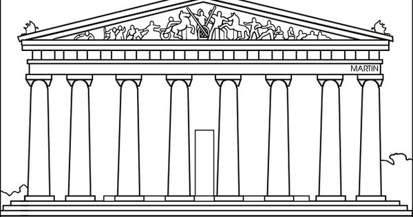 parthenon coloring page - parthenon greece drawing coloring page google search
