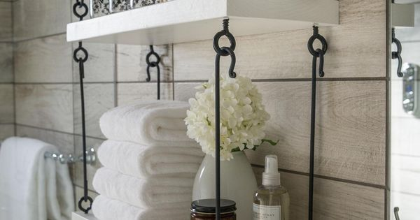 Cool bathroom shelving HGTV Smart Home 2015