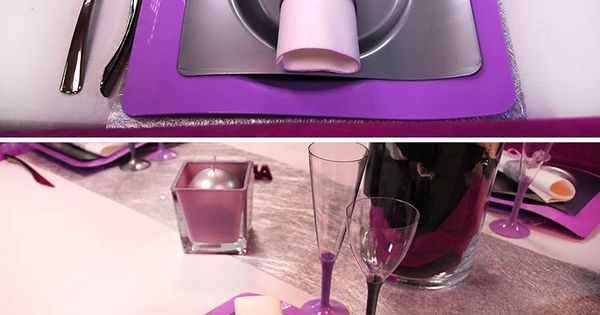 table de mariage sur les nuances de violet pr sentation. Black Bedroom Furniture Sets. Home Design Ideas