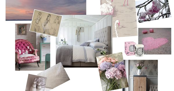 Gray Bedroom Mood : Mood board pink and grey bedroom colours