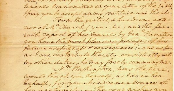 alexander hamilton s letter to george washington Love letters from alexander hamilton  show is hamilton's aug 8, 1780, letter to his future  letter to president george washington in which he.