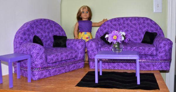 American Girl Doll Furniture Living Room Set By Marlo33 On Etsy American Girl