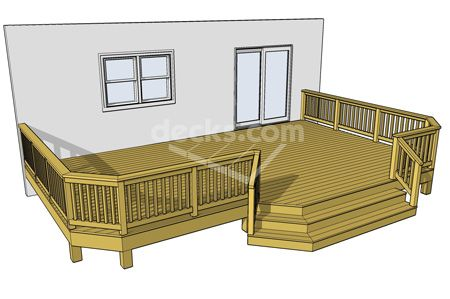 9 sizes available for this 26 x 16 or 379 sf deck other for 14x14 deck plans