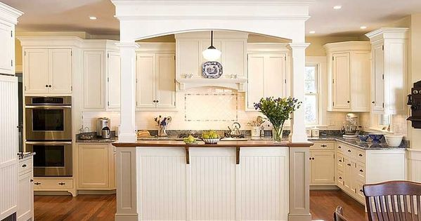 Islands With Pillars Kitchen Island With Columns And Arch Ideas For The House Pinterest