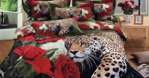 Best Tiger Animal Bedding Sets Rose Bedding Print Bedding