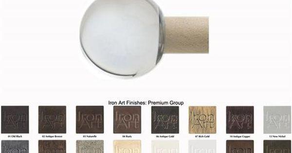 Glass Crystal Ball Custom Iron Art Curtain Rods In Premium