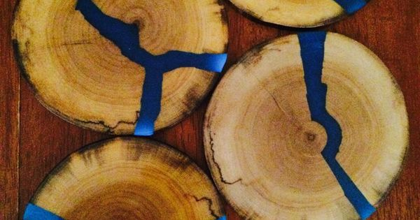 Glowing Resin Inlays Wood Coasters Resin Non Jewelry