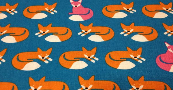 Japanese cotton linen blended fabric koizumi life tex for Fox print fabric