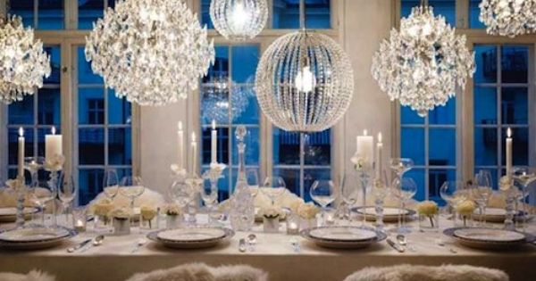 Add dimension to your table setting by hanging a variety of crystal