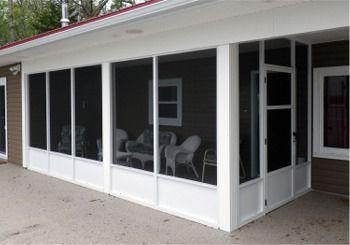 Porch Screening Kits Screen Enclosure Systems Screened Walls Canada Porch Enclosures Screened In Porch Porch Knee Wall