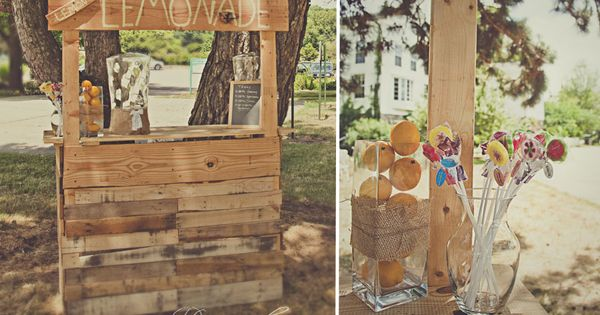 Lemonade stand rustic wedding photography michigan for Rustic lemonade stand
