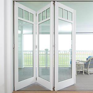 Panels Of A Bifold Door Folded Open Folding Patio Doors White Bifold Doors Patio Doors