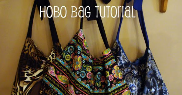 Hobo Bags Tutorial from @chocolatechocoalteandmore great project for a beginner sewing craft