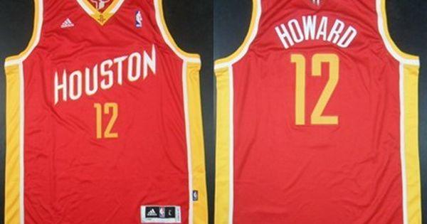 ... Houston Rockets 12 Dwight Howard Revolution 30 Swingman Red With Gold  Jersey ... 8c0595f97