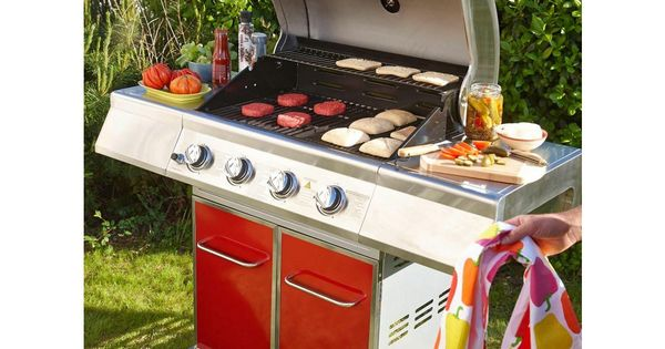 lebarbecue barbecue premium gaz 4 feux rouge prix promo barbecue carrefour barbacoa. Black Bedroom Furniture Sets. Home Design Ideas