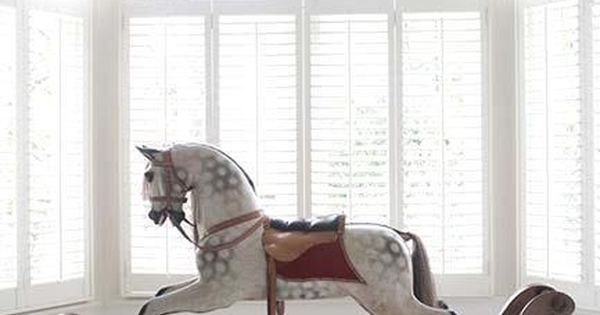 Antique rocking horse...like many children, my obsession with horses and riding started