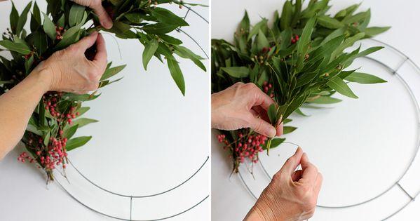 Handmade holiday wreath navidad coronas y coronas navide as for Coronas de navidad hechas a mano
