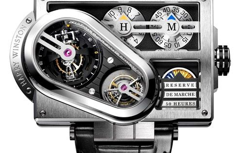 Harry Winston Histoire de Tourbillon 3 in 18k white gold case; $622,600