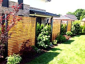 Sichtschutzzaun Holz Metall Larche Secret 5 Metallcarport Stahlcarport Kaufen Preise Amp Info Gartengestaltung Moderner Garten Sichtschutz Garten Holz