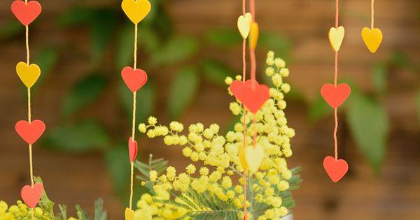 DIY guirlande coeur - Saint Valentin  Love  Pinterest  Tables ...