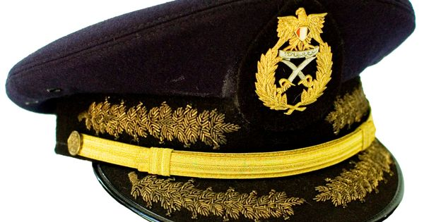 Egyptian Army Generals Ceremonial Visor Cap Military
