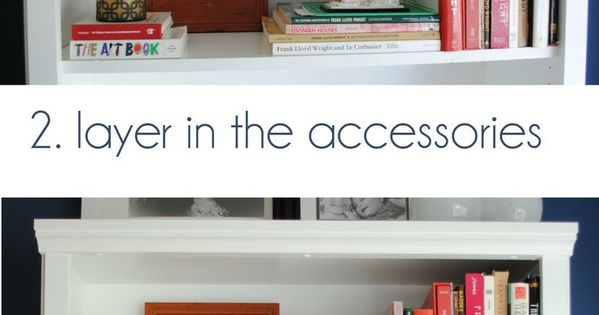 A breakdown on how-to style a bookcase. Inspiration tips and ideas on