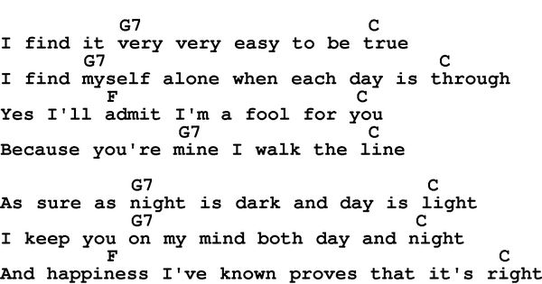 Walk the line johnny cash and lyrics and chords on pinterest