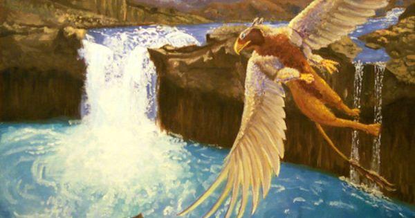 Painted Griffon Desktop Nexus Wallpapers Mythical Creatures Mythological Creatures Fantasy Creatures