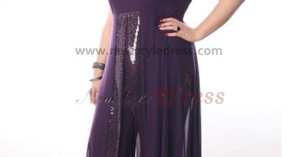 Plus Size Purple Chiffon Off The Shoulder Mother Of The