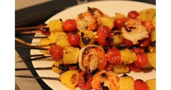 Simple BBQ Shrimp Skewers with Pineapple and Bacon ...