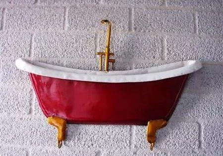 Badkuip Wanddecoratie Metaal Badkuipen Muurdecoratie Ijzer