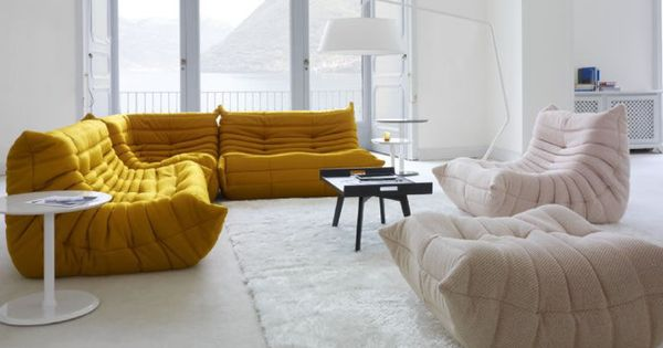 Ligne roset togo sofa curry yellow obyvaci pokoj pinterest jaune curry - Togo ligne roset couleurs ...