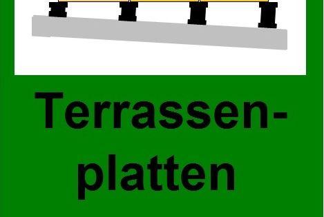 Waagrechte Verlegung Von Terrassenplatten Stelzlager Terrasse Terrassenplatten