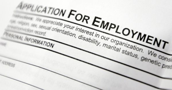 Employment application form Labour Market Information - employment application forms