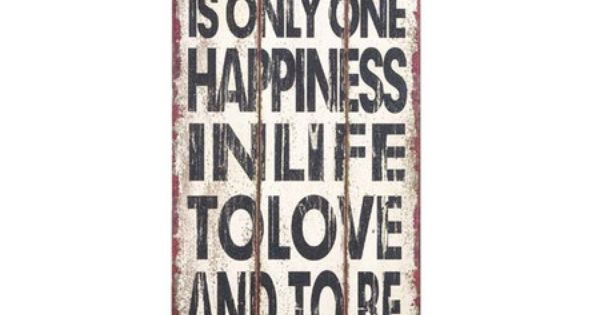 "Uma 36"" Wooden ""There Is Only One Happiness"" Wall Decoration - Beyond"