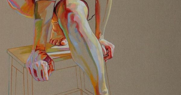 """Saatchi Online Artist: Cristina Troufa; Acrylic, 2011, Painting """"Pedestal"""" In love with"""