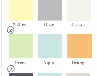 girls nursery color schemes OR simply female oriented room colors. (=