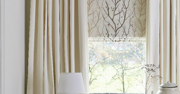 Beautiful Made To Measure Blinds And Curtains Layered Together And In Neutral Colours Create A