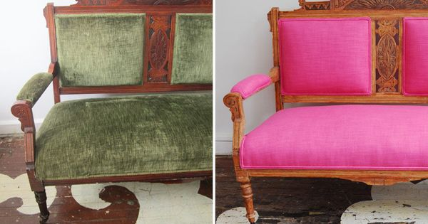 Our client 39 s antique eastlake settee reupholstered in for Furniture gig harbor