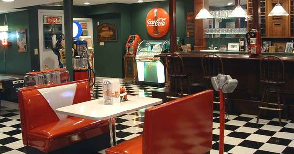 Game Room Diner Booth Home Decor Pinterest