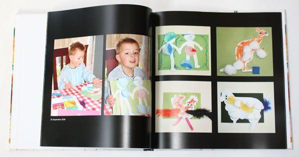 Scan your kids' artwork onto computer & make a book so you