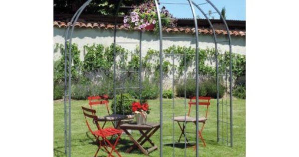 Gloriette De Jardin En Acier Gris Ardoise Jardin Et Saisons Gloriette De Jardin Gloriette Jardins