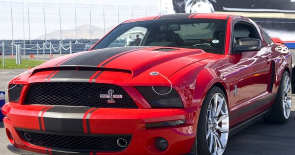 Red Ford Mustang Shelby GT500 Super Snake dream car